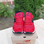 Чоловічі кросівки New Balance 574 (червоно-чорні) 10286, фото 5