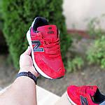 Чоловічі кросівки New Balance 574 (червоно-чорні) 10286, фото 6