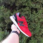 Чоловічі кросівки New Balance 574 (червоно-чорні) 10286, фото 9