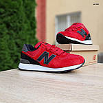 Чоловічі кросівки New Balance 574 (червоно-чорні) 10286, фото 8