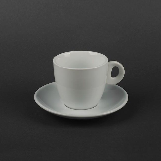 Чашка фарфоровая белая 210мл с блюдцем для кофе и чая (арт. HR1321)
