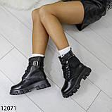 Ботинки женские зимние черные А12071, фото 4