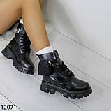 Ботинки женские зимние черные А12071, фото 6