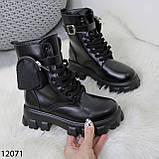 Ботинки женские зимние черные А12071, фото 8