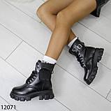 Ботинки женские зимние черные А12071, фото 9