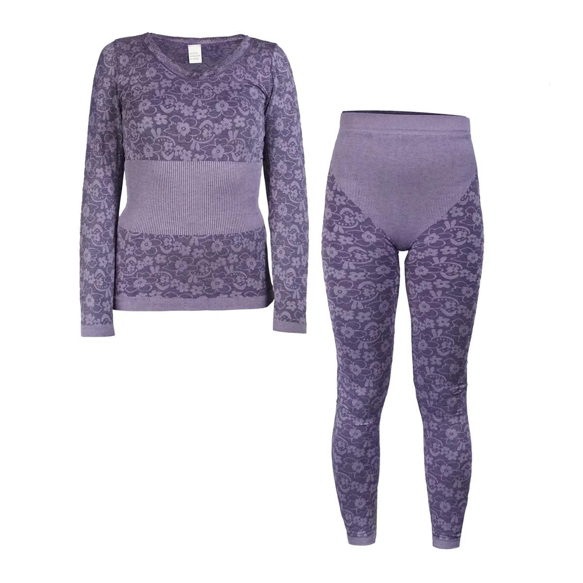 Женское термобелье Фиолетовое, зимнее термобельё для женщин для повседневной носки с доставкой (NS)