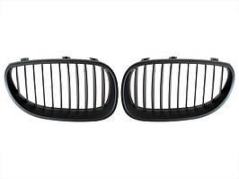 BMW 5 E60 03-10 решетка между фарами (ноздри) тюнинг черный матовый левый + правый комплект., арт. DA-8164