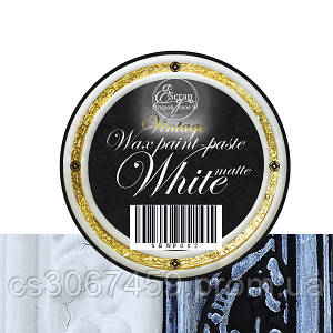 """Восковая краска-паста VINTAGE """"White Matte"""""""