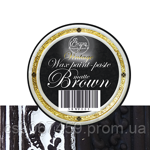 """Восковая краска-паста VINTAGE """"Brown Matte"""""""