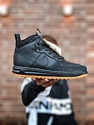 Мужские кроссовки Nike Lunar Force 1 Duckboot 16 (черные)