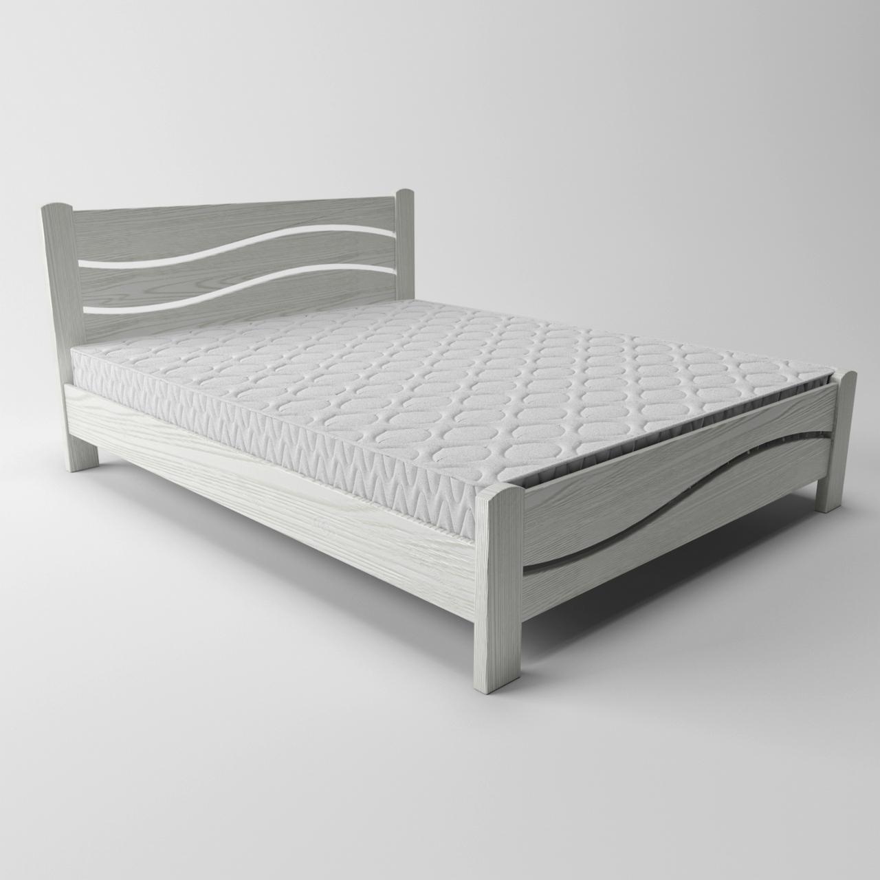 Ліжко дерев'яне Женева (масив ясеня)