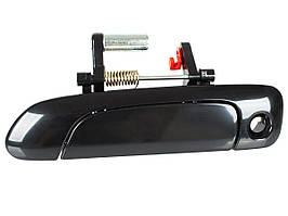 Honda Jazz / Fit 02-08 наружная дверная ручка с отверстием черный глянец передняя левая, арт. DA-20217