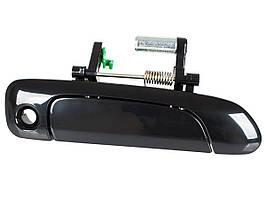 Honda Jazz / Fit 02-08 наружная дверная ручка с отверстием черный глянец передняя правая, арт. DA-20219