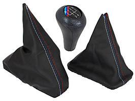 BMW 3 E30 82-94 чехол ручки переключения передач + рычаг ручного тормоза + ручка переключения передач M-Pack 5