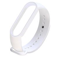 Силиконовый белый ремешок на фитнес трекер Xiaomi mi band 5 браслет аксессуар замена