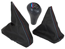 BMW 7 E32 86-94 чехол ручки переключения передач + рычаг ручного тормоза + ручка переключения передач M-Pack 5