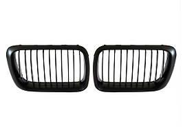 BMW 3 E36 96-99 решетка между фарами (ноздри) левая + правая комплект. чорные, арт. DA-6596