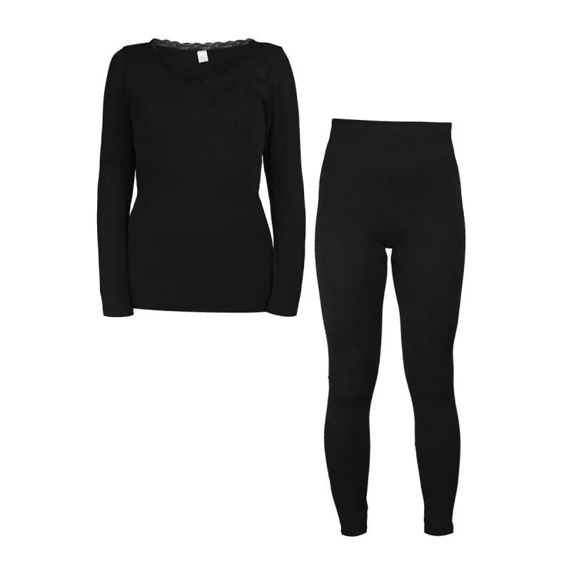 Комплект жіночої білизни для повсякденного носіння Чорний, термобілизна для жінок з доставкою