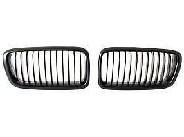 BMW 7 E38 FL 98-01 решетка между фарами (ноздри) левая + правая комплект. ЧЕРНЫЙ МАТОВЫЙ, арт. DA-4643
