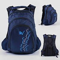 Рюкзак C 43533 (36) 1 ВИД, ЦВЕТ СИНИЙ, 1 отделение, 2 кармана, защитный бампер, USB кабель, в пакете