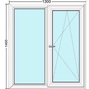 Вікно металопластикове у профілі S400 (1300х1400) Steko. Гарантія 10 років ДОСТАВКА ПО УКРАЇНІ БЕЗКОШТОВНО!