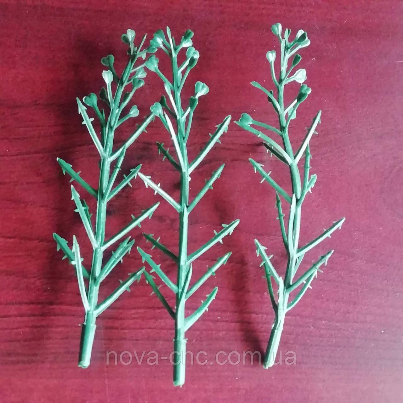 Веточки маленькие декоративные Размер 13 см Упаковка 25 шт Цвет зеленый