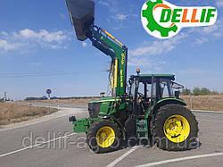 Фронтальний навантажувач КУН на трактор John Deere ( Джон Дір). - Делліф Супер Стронг 2000
