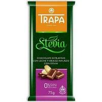 Шоколад Trapa молочный с рисовыми шариками DIA 75г