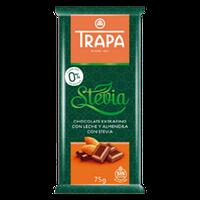 Шоколад Trapa молочный с миндалем DIA 75г