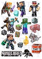 Съедобная печать на вафельной бумаге Minecraft ( 01)