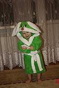 Детский махровый халат зайчик
