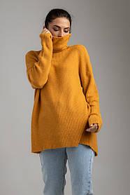 Приятный теплый свитер с высокой горловиной свободного кроя в 7 цветах в универсальном размере