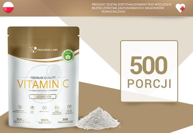 Витамин Ц PROGRESS LABS - Vitamin C 1000mg (L-Ascorbic ACID)