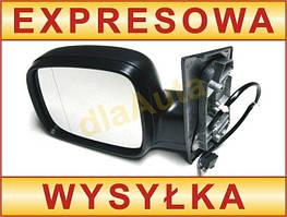 VW Caddy 04- наружное зеркало с электроприводом черное левое, арт. DA-2807