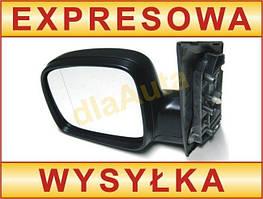 VW Caddy 04- наружное механическое зеркало черное левое, арт. DA-2803