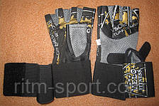 Перчатки для тяжелой атлетики с напульсником, фото 3
