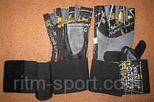 Рукавички для важкої атлетики з напульсником, фото 3
