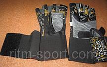 Перчатки для тяжелой атлетики с напульсником, фото 2