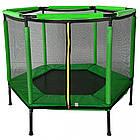 Батут спортивный домашний Atleto 140 см детский шестиугольный для дома, фото 6