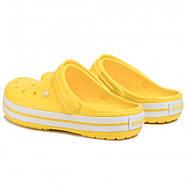 Сабо (кроксы) Crocs Crocband Lemon/White (Лимонный) M5W7 37, фото 2