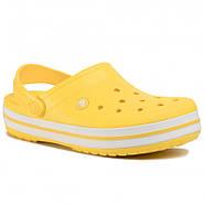 Сабо (кроксы) Crocs Crocband Lemon/White (Лимонный) M5W7 37, фото 4