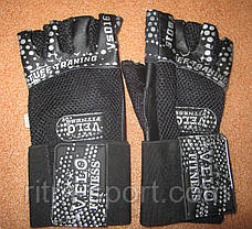 Перчатки спортивные с напульсником, фото 3
