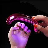 Мини УФ лампа Smart 2.0 LED 9 Вт Таймер 60 сек Работает от любой телефонной зарядки USB, фото 2