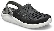 Сабо (кроксы) Crocs LiteRide Clog Black/Smoke ( Черный / Дымчатый ) M5W7 37, фото 5