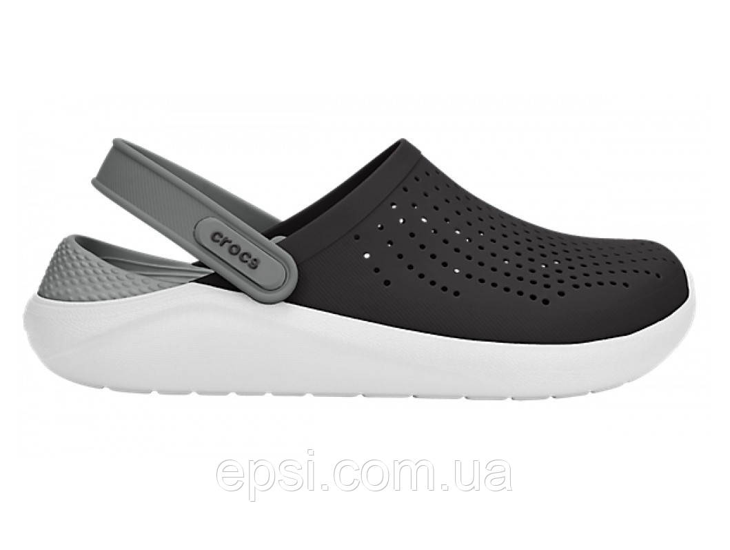 Сабо (кроксы) Crocs LiteRide Clog Black/Smoke ( Черный / Дымчатый ) M6W8 38