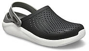 Сабо (кроксы) Crocs LiteRide Clog Black/Smoke ( Черный / Дымчатый ) M6W8 38, фото 4