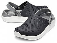 Сабо (кроксы) Crocs LiteRide Clog Black/Smoke ( Черный / Дымчатый ) M6W8 38, фото 3