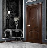 Межкомнатные двери Новый Стиль Рока ПВХ DeLuxe глухая с гравировкой, цвет Золотая ольха, фото 3