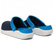 Сабо (кроксы) Crocs Literide Kids Navy/White (  Темно-Синий / Белый ) C10 27-28, фото 3
