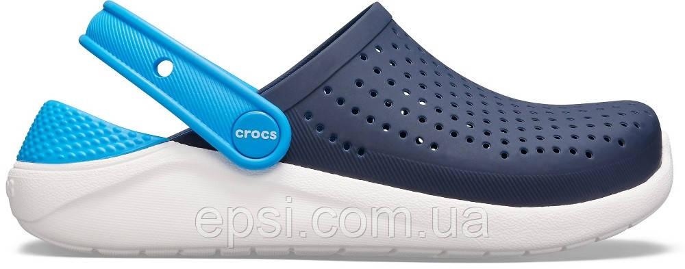 Сабо (кроксы) Crocs Literide Kids Navy/White (  Темно-Синий / Белый ) C11 28-29